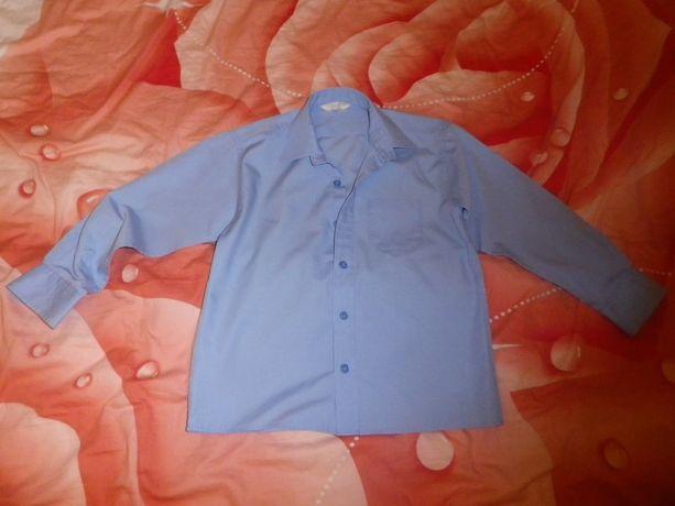 Рубашки голубые Marks & Spencer на 6 лет-7лет