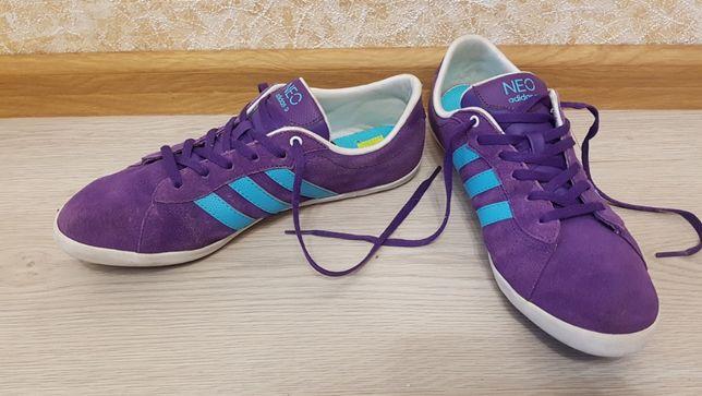 Кроссовки Adidas Neo Purple 40р. 26см. Original, замша
