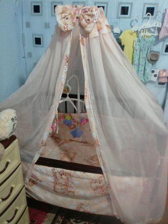 Детская кроватка-манеж, в полном зборе