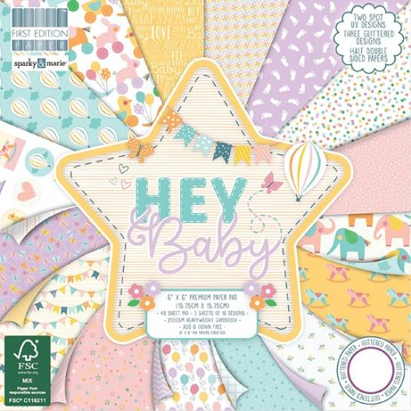 Bloco de papel para Scrapbooking - Hey Baby