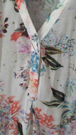 Koszula mgielka S kwiaty