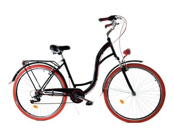 Nowy Dallas Bike Rower miejski 28'' 7-biegowy czarny  SPD Lux