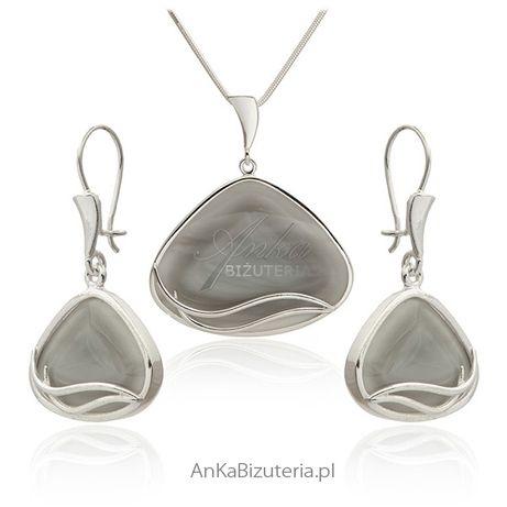 ankabizuteria.pl jubiler warszawa Bransoletka srebrna z czarnymi spine
