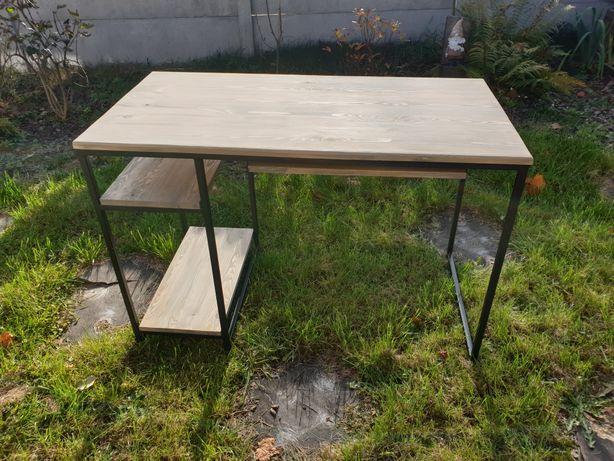 Biurko industrialne/loft lite drewno z szufladą na klawiaturę.