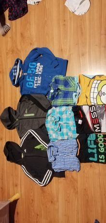 Zestaw paka bluzy koszule koszulki 140-146