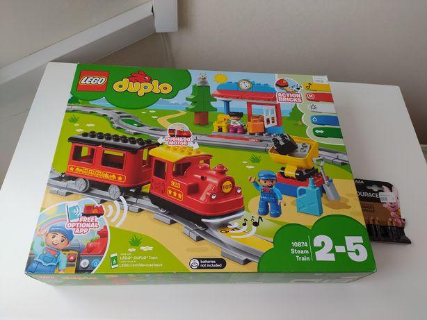 LEGO DUPLO Поезд на паровой тяге 10874 59 деталей + 4 батарейки Durace