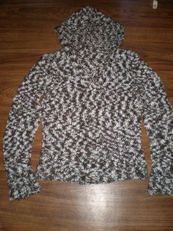 Теплый свитер с капюшоном,меланж, Pimkie