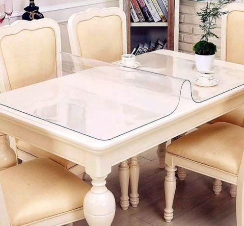 Гибкое мягкое стекло для защиты мебели