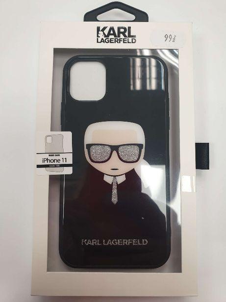 Etui KARL LAGERFELD iPhone 11 Double Layers Glitter Head KLHCN61DLHBK
