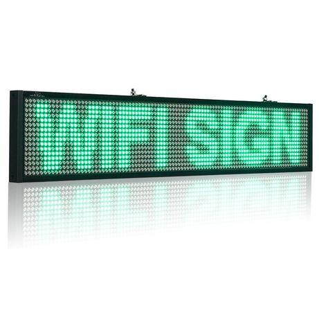 Бегущая строка влагостойкая с WIFI 235см*40см/зеленая с удлиненным каб