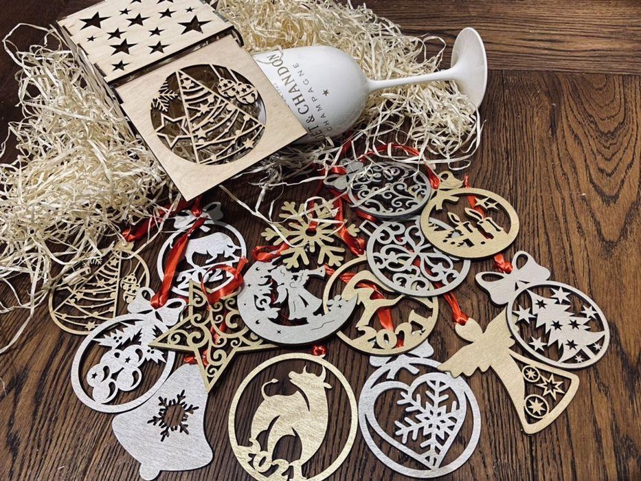 Новогодние игрушки из дерева Харків - зображення 1