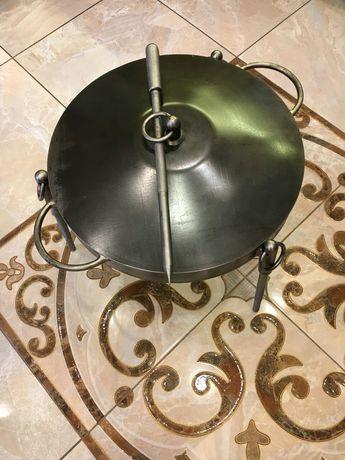Сковорода Люкс из диска бороны диаметр 40см для отдыха на природе
