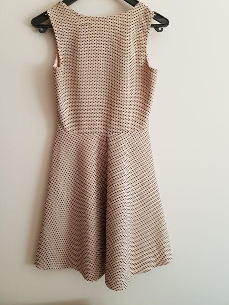 Sukienka w kropki M różowo szara Londyn