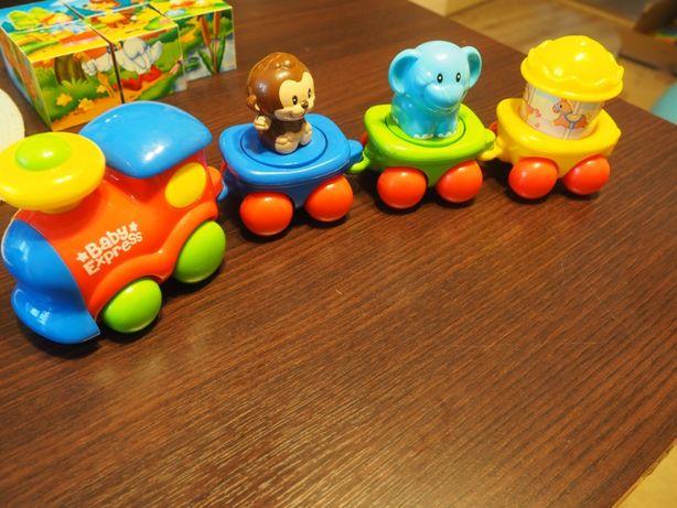 Mój pierwszy pociąg ciuchcia, zwierzęta cyrk Baby express
