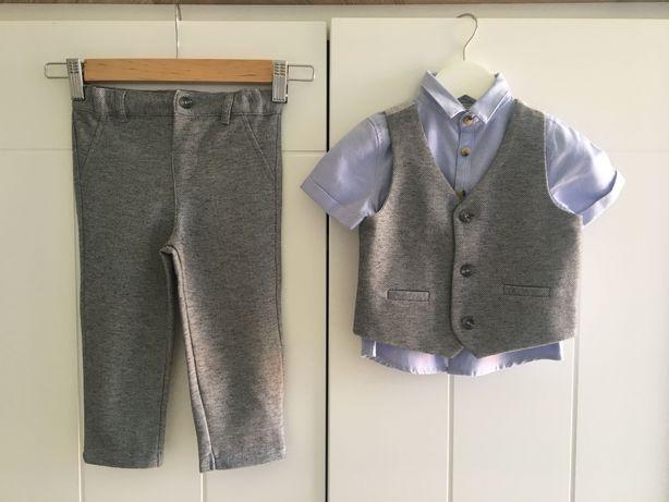 Strój ubranie dla chłopca na ślub wesele 12-18 miesięcy 86cm