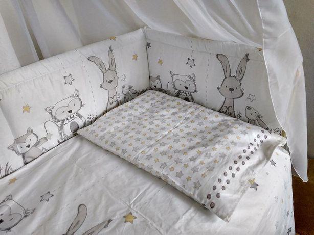 Новые высокие двухсторонние бортики (защита) в кроватку ребенка