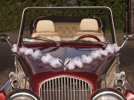 Dekoracja samochodu - Girlandy tiulowe BIAŁE Pompony 3 szt.