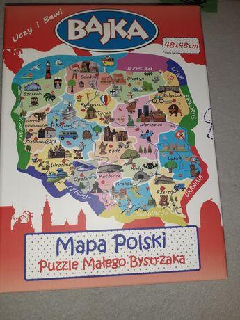 Sprzedam puzzle Małego Bystrzaka Mapa Polski