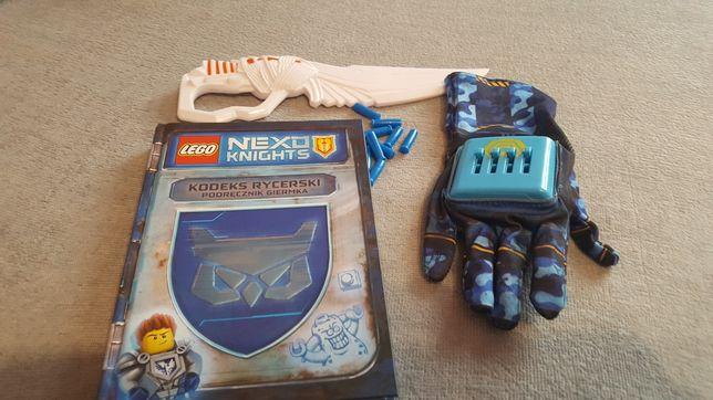 zabawki dla chłopaka rękawica nerw i książka komiks+ gadżet