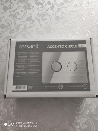 Przycisk WC pneumatyczny ACCENTO CIRCLE  chrom błyszczący