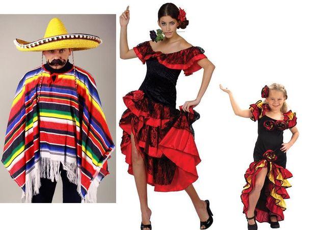 Испанка (сеньёрита, мексиканка). Испанец испанский костюм( мексиканец)