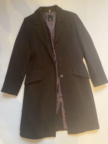 Шерстяное классическое пальто цвета шоколад