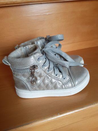 Botki r25 buciki za kostkę srebrne trzewiki sneakersy