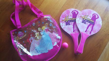 Raquetes Praia +Saco Princesas Disney