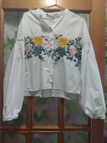 Рубашка блуза вышиванка Zara