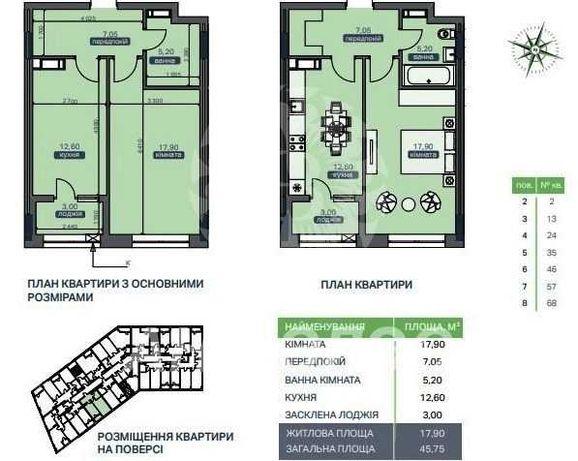 ЖК Метрополіс. Квартира у будинку 2, 1 секція.