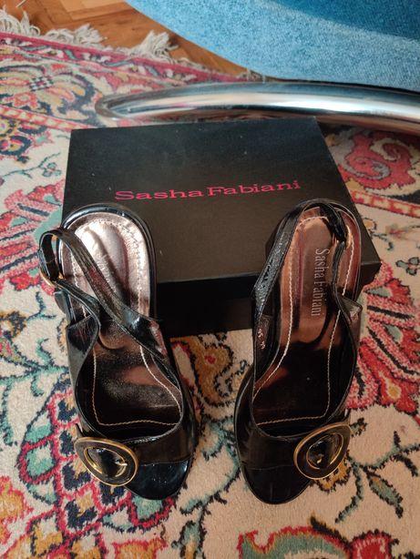 Лаковые итальянские босоножки Sasha Fabiani, размер 36-37