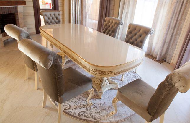 Обеденный стол. Столовый гарнитур. Комплект Мебели в столовую.