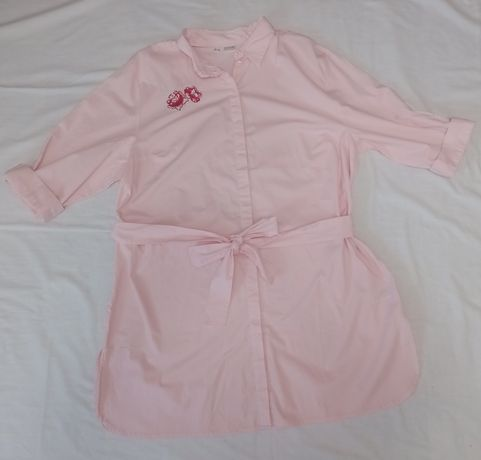 Tuniko-sukienka pudrowy róż 48