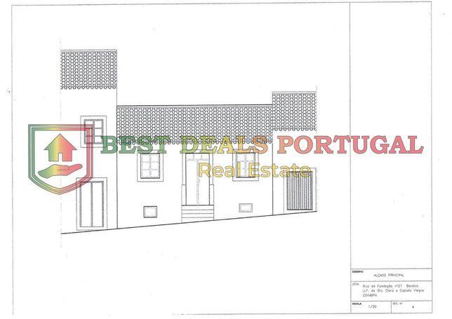 Moradia Banda T4 Reconstruir; Devoluta e Ruína; Stª Clara-Coimbra