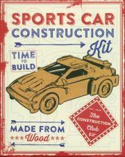 Łamigłówka drewniana. Sport Car Construction Kit