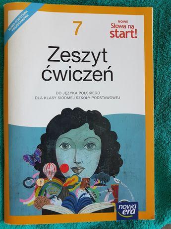 Zeszyt ćwiczeń do j.polskiego nowe Słowa na start! Nowa Era kl.7