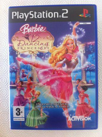 6 jogos Playstation II Barbie Poker Ratatui Ferrari Formula 1 MotoGP