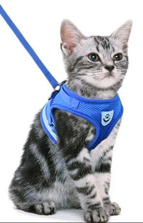 Шлейка поводок для кота /собаки,размеры xs,s,m,l,xl