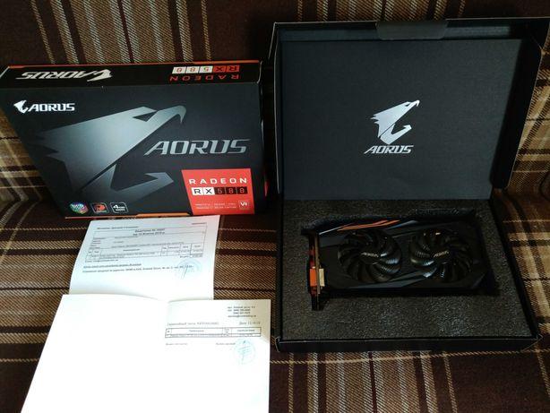 Видеокарта AORUS Radeon RX 580 4GB Чек и Гарантия