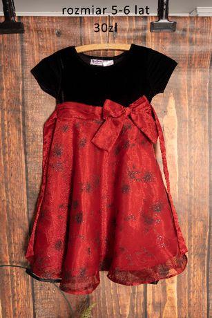 Sukienka swiateczna 5-6 lat
