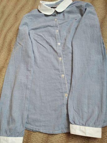 Рубашка в клеточку Tommy Hilfiger, сорочка, блузка в школ, 13-15-16 ле