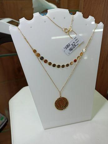Złoty Naszyjnik z moneta NOWOSC super wzór złoto 14 karatowe sklep