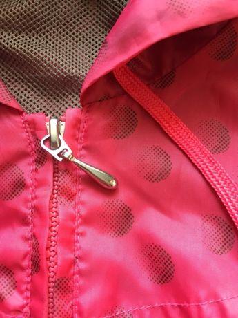Różowa kurtka z kapturem rozm. S