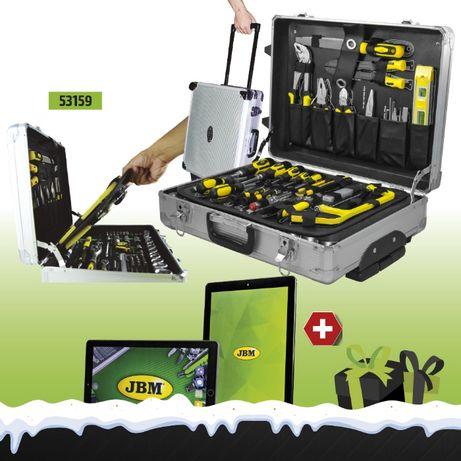 """Caixa Mala 159 Ferramentas Aluminio tipo Troley + OFERTA Tablet 10"""""""