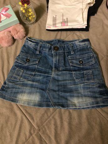 Джинсовая юбка и шорты спортивные