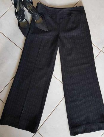 Spodnie damskie Vintage eleganckie dzwony szerokie nogawki
