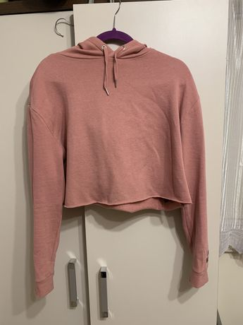 różowa bluza crop top roz. L/XL