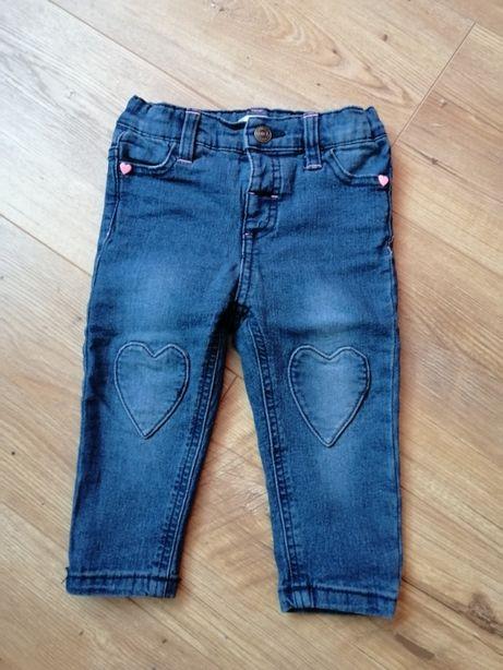 Spodnie jeansowe dziewczęce r. 80