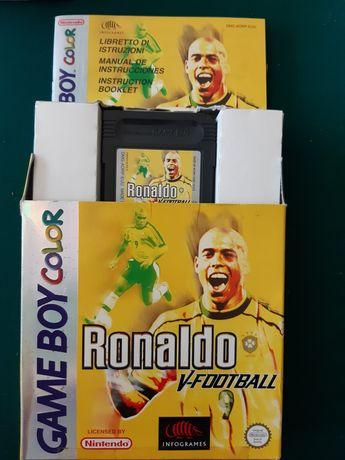 """Jogo Game Boy Color """"Ronaldo V-Football"""""""