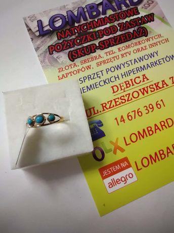 Złoty pierścionek PR.585 Waga 0,90g r.15 ! Lombard Dębica
